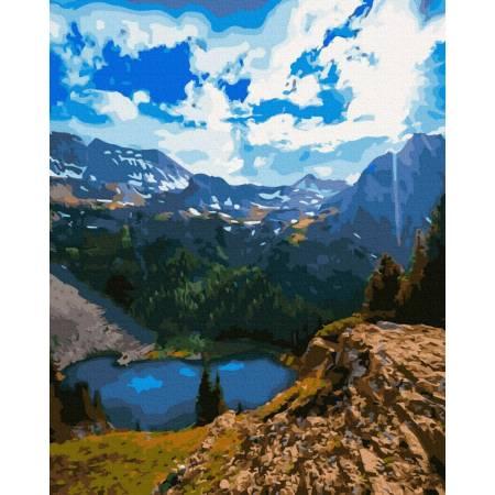 Картина по номерам красивое горное озеро  GX39383, Rainbow Art