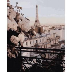 Пейзаж парижский балкон