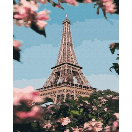 Картина по номерам Красивый цветущий Париж GX39411, Rainbow Art