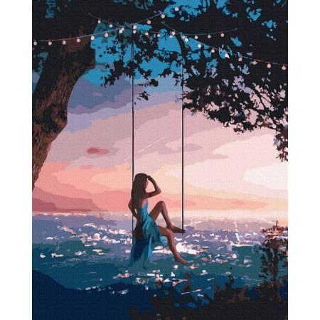 Картина по номерам Вечерние качели  GX39624, Rainbow Art