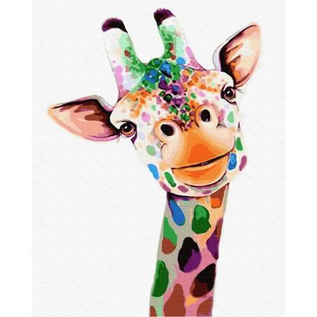 Картина по номерам Улыбающийся жираф  GX32225, Rainbow Art