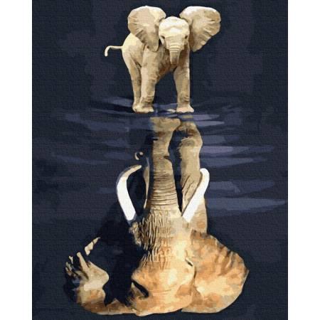 Картина по номерам Дух слона  GX39274, Rainbow Art