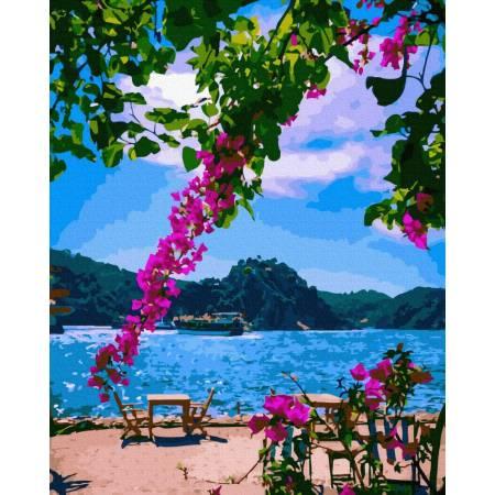 Картина по номерам На побережье  GX39387, Rainbow Art