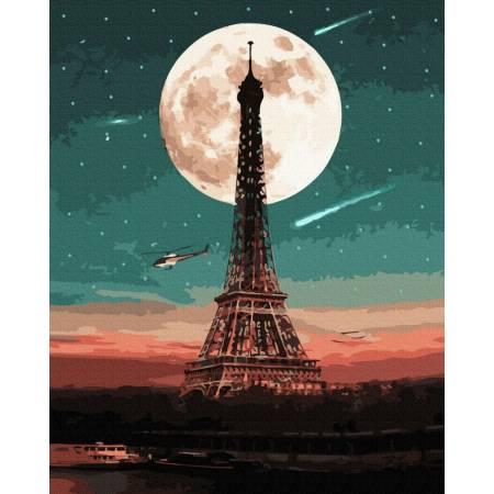 Картина по номерам Парижское полнолуние GX39403, Rainbow Art
