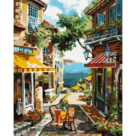 Картина по номерам Старая улочка GX39414, Rainbow Art