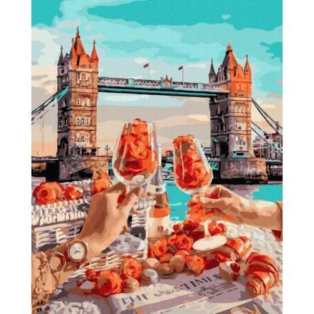 Картина по номерам Завтрак в Лондоне  GX39597, Rainbow Art