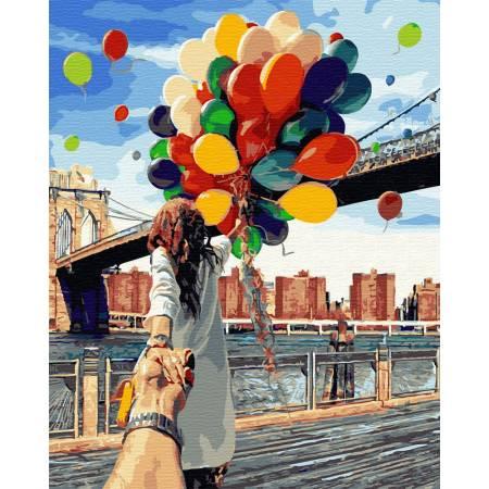 Картина по номерам Следуй за мной. Бруклинский мост  BRM4371, Rainbow Art