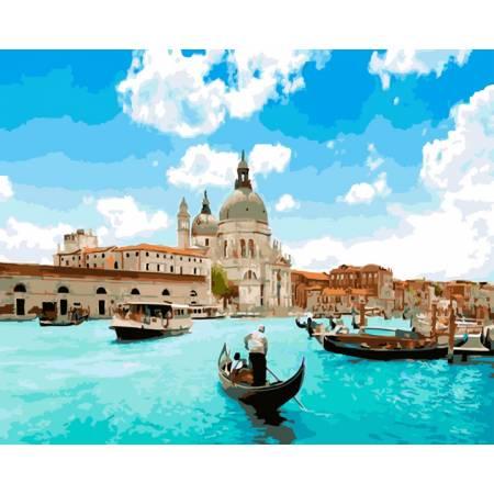Картина по номерам Безоблачная Венеция 2  BRM5384, Rainbow Art