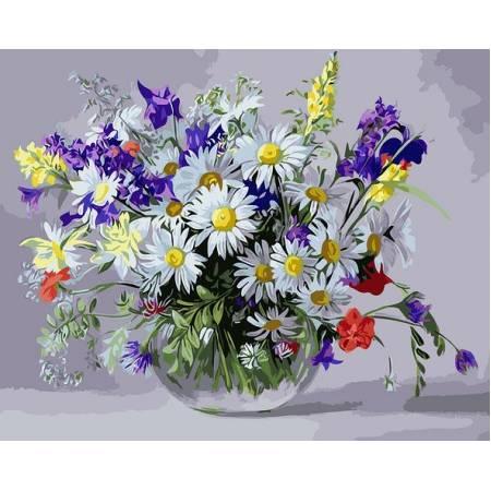 Картина по номерам Ваза полевых цветов  BRM9890, Rainbow Art
