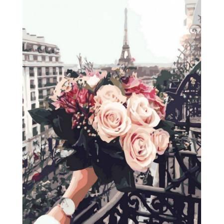 Картина по номерам Розы в Париже GX32929, Rainbow Art