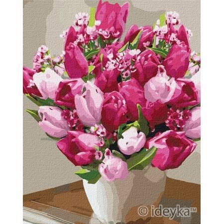 Картина по номерам Красивые яркие тюльпаны  KHO3006, Rainbow Art