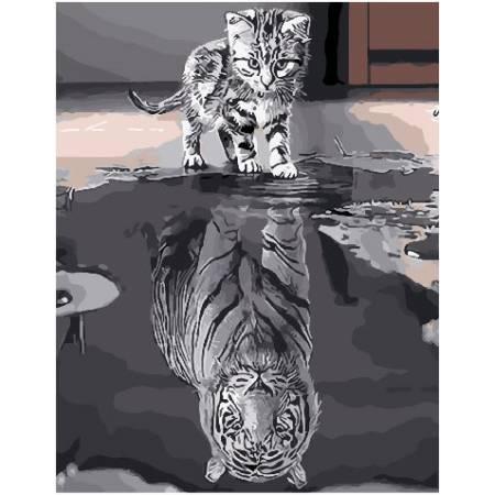 Картина по номерам Душа сильного тигра  BRM25713, Rainbow Art