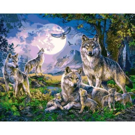 Картина по номерам Стая волков 2 VP1357, Babylon