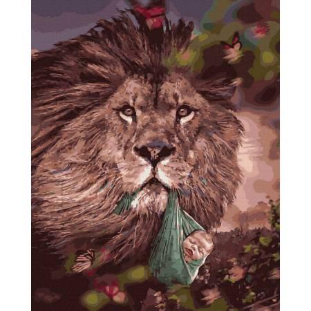 Лев с малышом