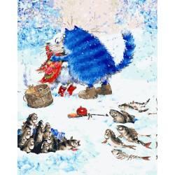 Пара синих котов