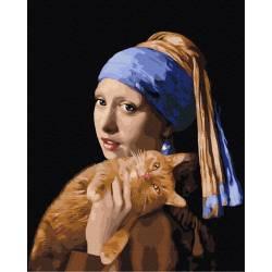Девушка с рыжим котом