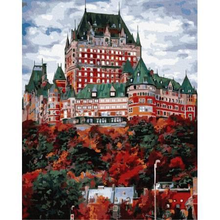 Картина по номерам Замок Фронтенак в Канаде GX33940, Rainbow Art
