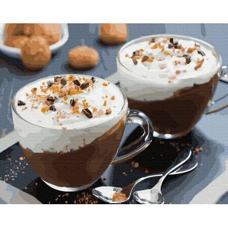 Кофейный десерт с орехами