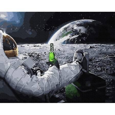 Картина по номерам Релакс в космосе GX34312, Rainbow Art