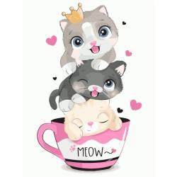 Котики в чашечке
