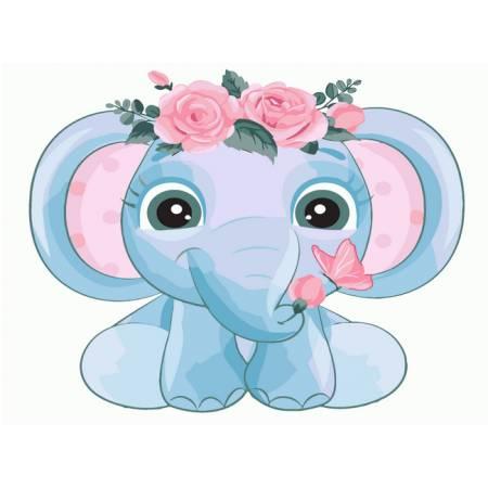 Слоненок в веночке