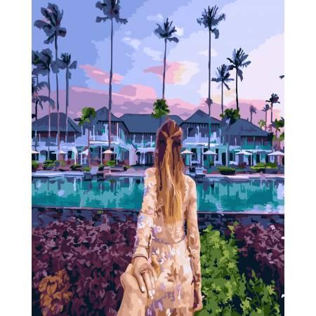 Картина по номерам Следуй за мной Гавайи GX23563, Rainbow Art
