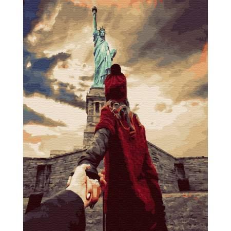Картина по номерам Следуй за мной Нью-Йорк GX24462, Rainbow Art