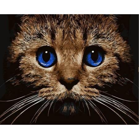 Картина по номерам «Кошачий взгляд», модель GX21674