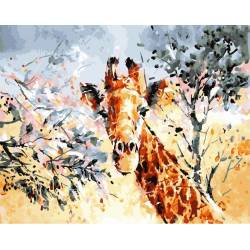 Жираф в саванне