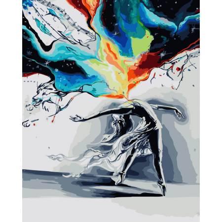 Картина по номерам Всплеск танца GX23096, Rainbow Art
