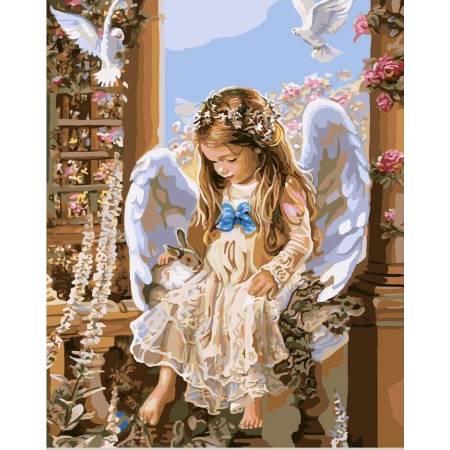 Картина по номерам Ангел GX7158, Rainbow Art