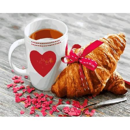 Картина по номерам - Завтрак с любовью