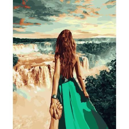 Картина по номерам Следуй за мной. Ниагара GX21781, Rainbow Art