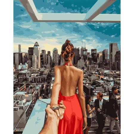 Картина по номерам Следуй за мной. Нью-Йорк GX21784, Rainbow Art