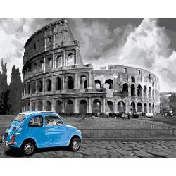 Голубое авто у Колизея