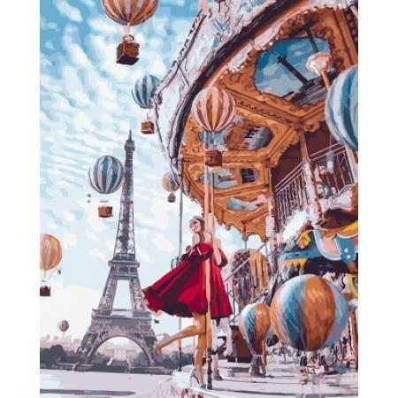Картина по номерам Воздушные шары Парижа GX22860, Rainbow Art