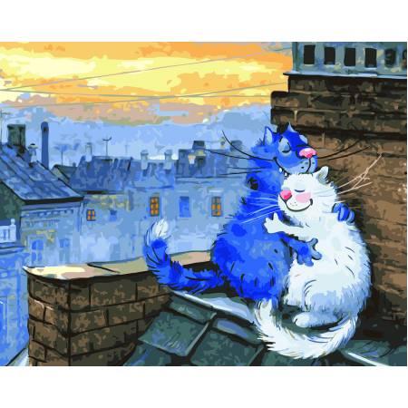 Картина по номерам Любовь на крыше GX22931, Rainbow Art