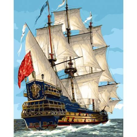 Картина по номерам Парусник королевской флотилии GX23186, Rainbow Art