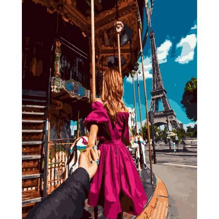 Картина по номерам Следуй за мной. Париж - 2 GX23279, Rainbow Art