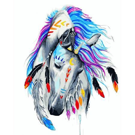 Картина по номерам «Индейская лошадь», модель GX23671