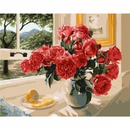 Картина по номерам Лимонный акцент красный GX23853, Rainbow Art