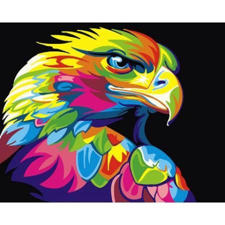 Картина по номерам Радужный орёл 2 GEX5329, Rainbow Art