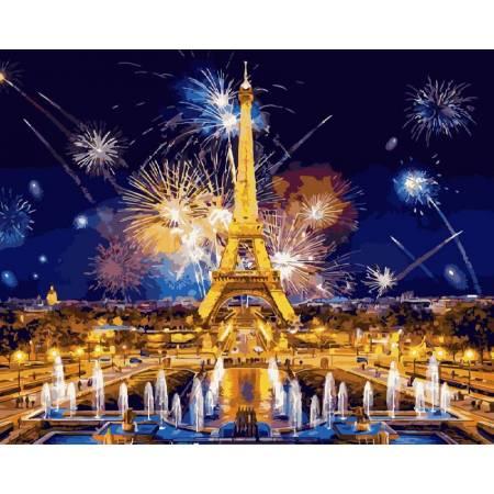 Картина по номерам - Салют в Париже