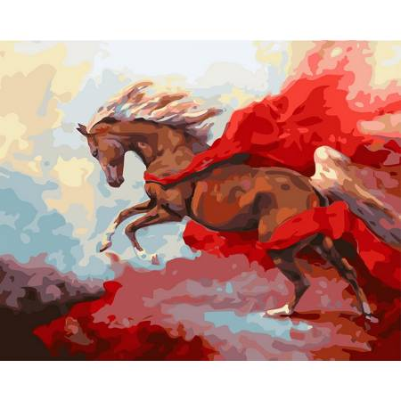 Картина по номерам «Грациозная лошадь», модель GX27437