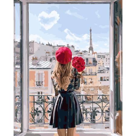 Картина по номерам «Мадмуазель Париж», модель GX27962