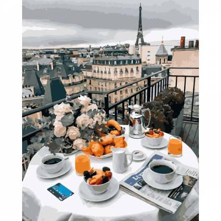 Картина по номерам Бизнес завтрак в Париже GX27963, Rainbow Art