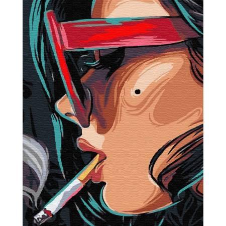 Картина по номерам Девушка с сигаретой GX29536, Rainbow Art