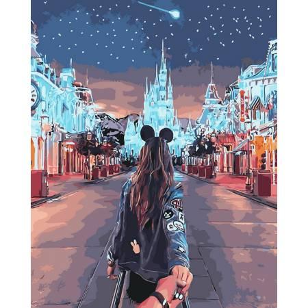 Картина по номерам Следуй за мной Диснейленд GX30583, Rainbow Art