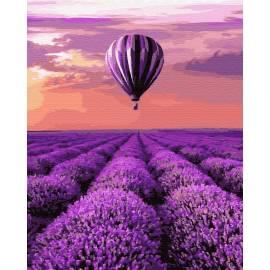 Воздушный шар над полем