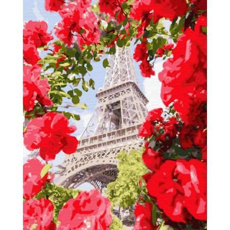 Картина по номерам Эйфелева башня с прекрасного ракурса GX32312, Rainbow Art